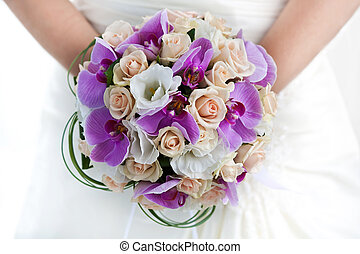 bouquet of orchids - bridal bouquet of orchids in the the...