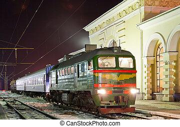 Freight-passenger diesel train