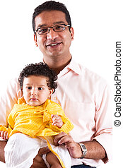 East Indian Father and Son