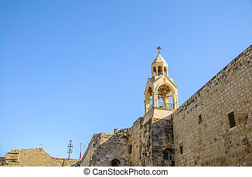 Nativity church, Bethlehem, Palestine, - Tower of the...