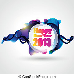 creative happy new year design