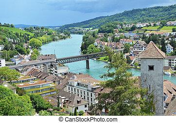 Rhine river in Schaffhausen, Switzerland