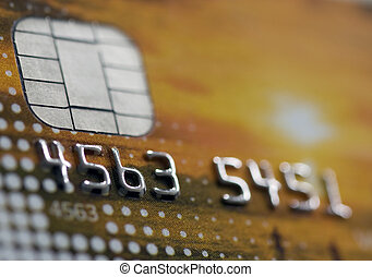 credit card - a closeup of a credit card