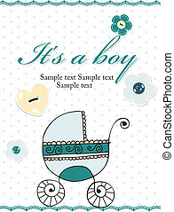 Baby boy announcement card