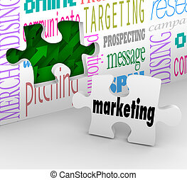Marketing Wall Puzzle Piece Market Plan Strategy - A puzzle...