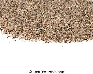 Macro pile sand isolated on white
