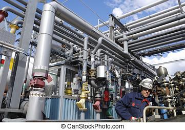 óleo, indústria, engenharia