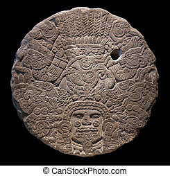 Stone altar disk to Tlaltecuhtli, Lord of the Earth...