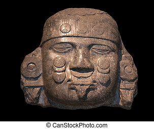 Head of Coyolxauhqui, Mexica-Aztec, Tenochtitlan, Mexico, c...