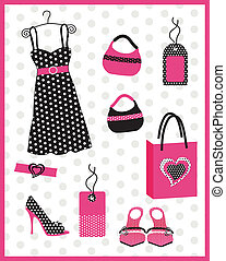 Dress card with dots - Lovely card for big girls