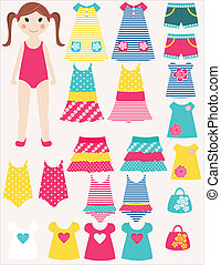 Dress me! - Let's play together! Dress little girl as you...