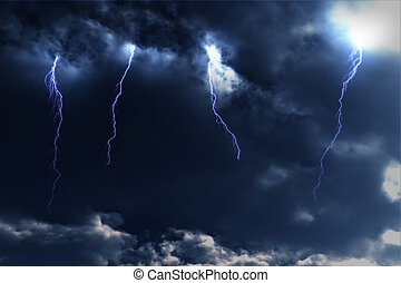 Thunderstorm Lightnings