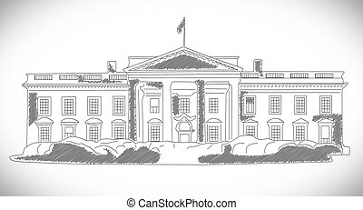 The White House hand drawn design