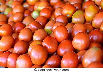 トマト, 伝統的である, フルーツ, 市場, 新たに
