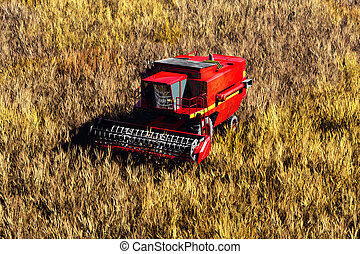 Agriculture Harvester Concept 3D render