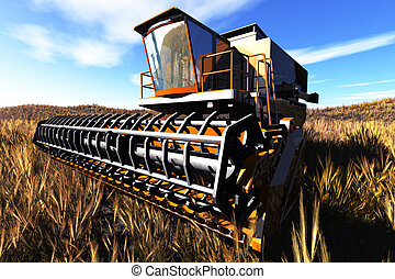 Agriculture Harvester Concept 3D re