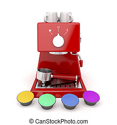 Coffee machine capsules - Coffee machine with different...