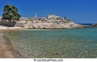 Ruins of ancient town Astipalea in Kefalos Kos island,...