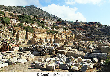 Ruins of temple in Knidos