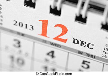 Dezembro, 2013, Calendário