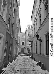 Narrow street in Riga