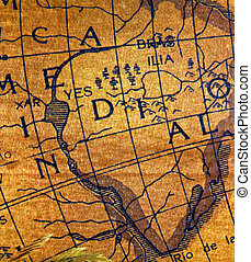 Old exploration map - The ancient explorators maps, used to...