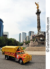 The Angel of Independence in Mexico City - MEXICO CITY - FEB...