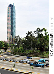 Torre Mayor building in Mexico City - MEXICO CITY - FEB...