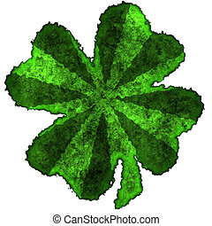 Shamrock burnt parchment - Burnt parchment with the shape of...