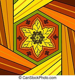 Floral mandala drawing sacred circle