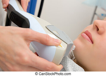 Laser hair removal in professional beauty studio beauty...