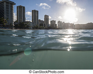 Wet Waikiki Sunrise in Honolulu Hawaii