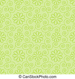 Light green ornamental pattern - Seamless light green...