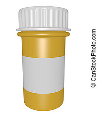 3d Render of a Pill Bottle