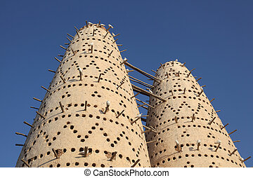 Pigeon towers in Doha, Qatar, Middle East