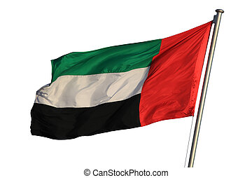 Flag of the United Arab Emirates isolated on white
