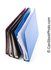 file folders, Ring Binder, with white background