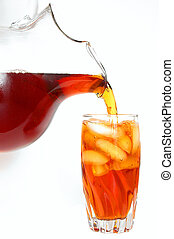 Iced Tea - A cold glass of traditional southern iced tea.