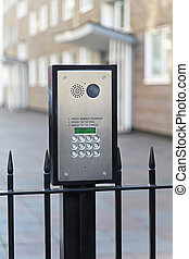 Video intercom with key pad for security access