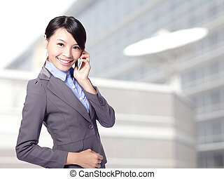 business woman speaking mobile phone