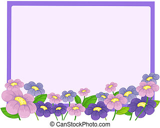 A white board and flowers - Illustration of a white board...
