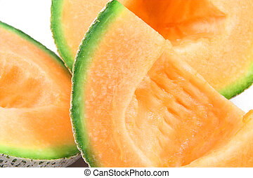 Cantaloupe - Delicious and freshly sliced natural organic...