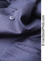 Suit Jacket  - Blue Pinstriped Men's Suit Jacket