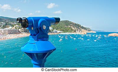 Observation monocular at Tossa de Mar, Costa Brava,...