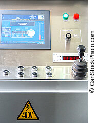 Control panel at aerobridge in airport