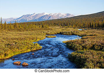 River on Alaska - blue river,Alaska
