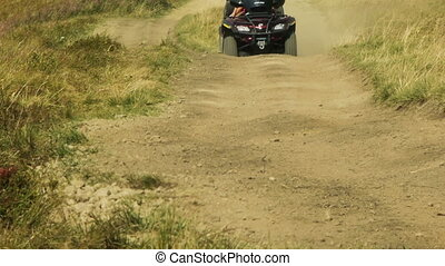 Quad bike cross country - View of ATV ( All Terrain...