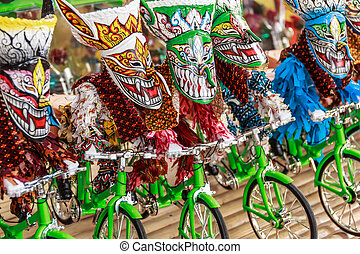 Thai masked festival. It is named Phi-Ta-Khon in...
