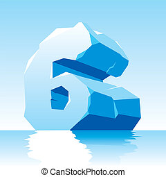 ice number 6 - vector image of ice number 6