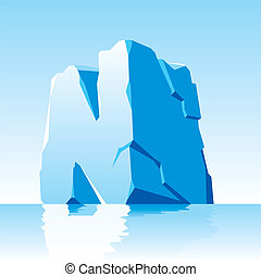 ice letter N - vector image of ice letter N